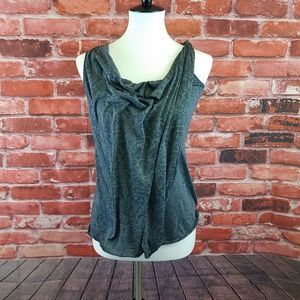 draped cowl neck tank Free People double layer  XS